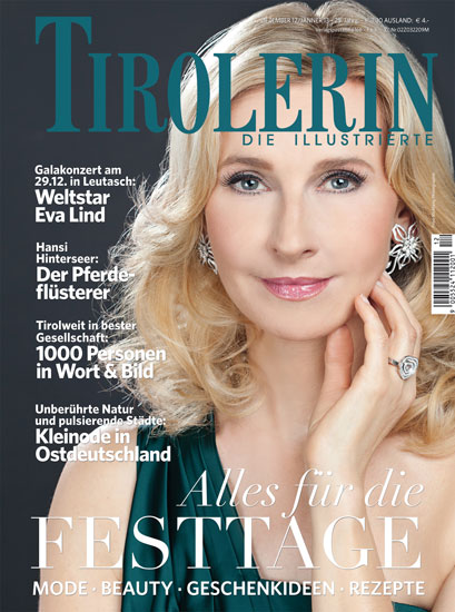 Eva Lind am Cover der »TIROLERIN«