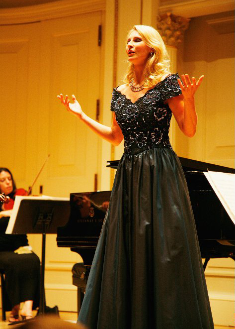 Eva Lind in der Carnegie Hall in New York